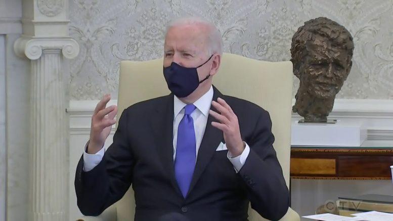 "Biden blasts states for lifting mask mandates, calls it ""Neanderthal thinking."" 1"