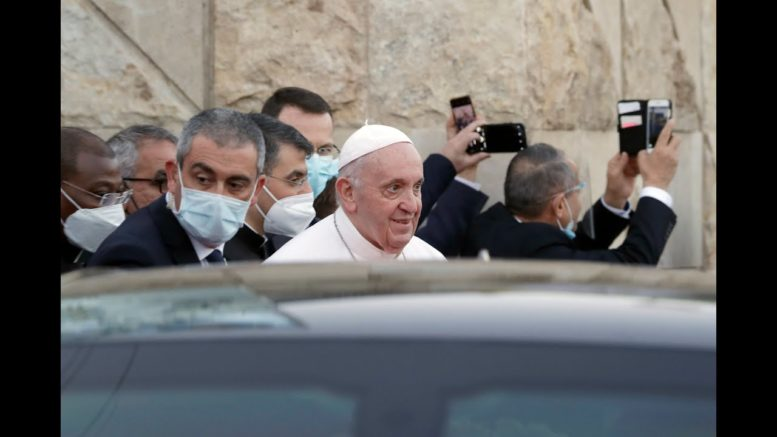 What does Pope Francis hope to achieve with his visit to Iraq? 1