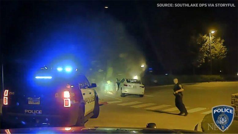 Children uninjured after speeding SUV smashes into car 1