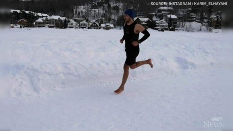 Runner completes barefoot half-marathon on frozen lake, breaks world record 1
