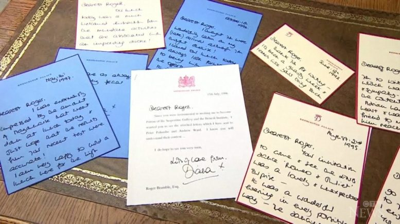 Letters written by Princess Diana sold for more than C$118K 1