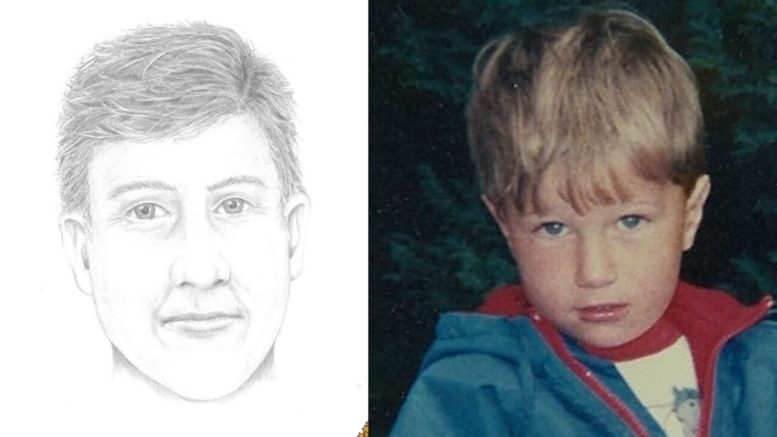 Age-enhanced sketch of B.C. boy Michael Dunahee 30 years after disappearance 1