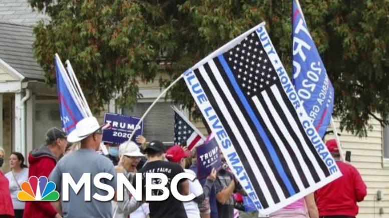 Trump Hypocrisy Exposed: MAGA Fans Shred 'Blue Lives Matter' Rhetoric At Riot 1