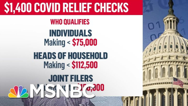 Examining Eligibility For Third Round of Stimulus Checks After Senate Passes Covid Relief Bill 1
