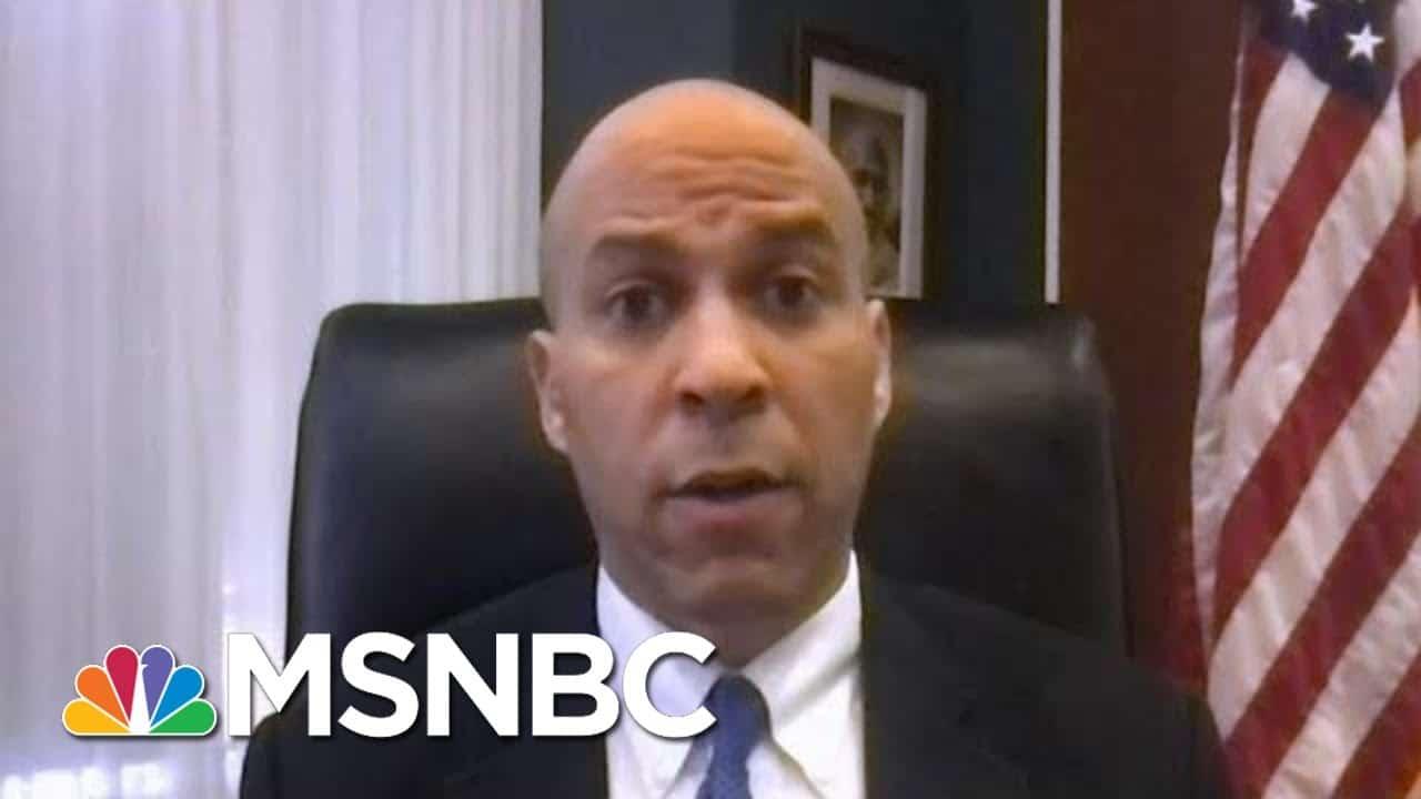 Sen. Booker: An Unprecedented Health Crisis Needs An Unprecedented Response | Morning Joe | MSNBC 4