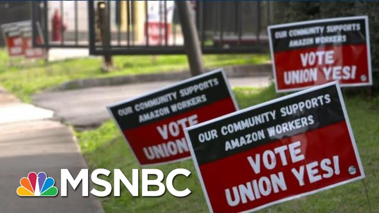 After Battling Trump, Billionaire Bezos Breaks With Trump Over Unions   The Beat With Ari Melber 2