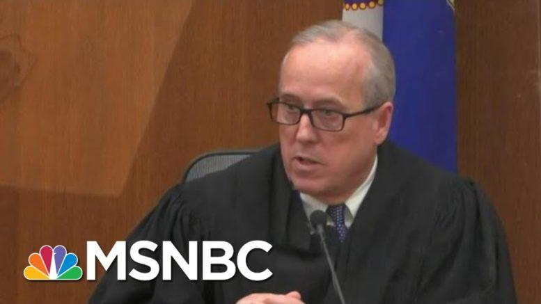 Judge Reinstates Third-Degree Murder Charge Against Derek Chauvin | Hallie Jackson | MSNBC 1