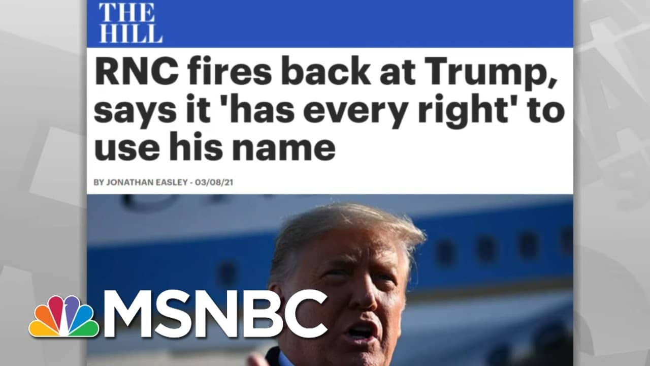 Republicans Take Spanking From Trump, Ask For More   Rachel Maddow   MSNBC 9