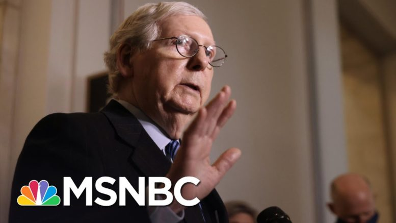 McConnell Threatens Biden And Dems With 'Scorched Earth' | The 11th Hour | MSNBC 1