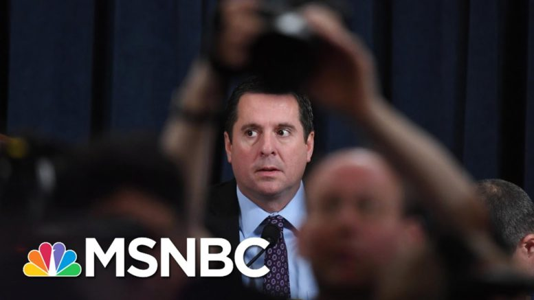 Nunes Questions Laid Bare As Trump Ear Obfuscation Lifts On U.S. Intel About Russia | Rachel Maddow 1