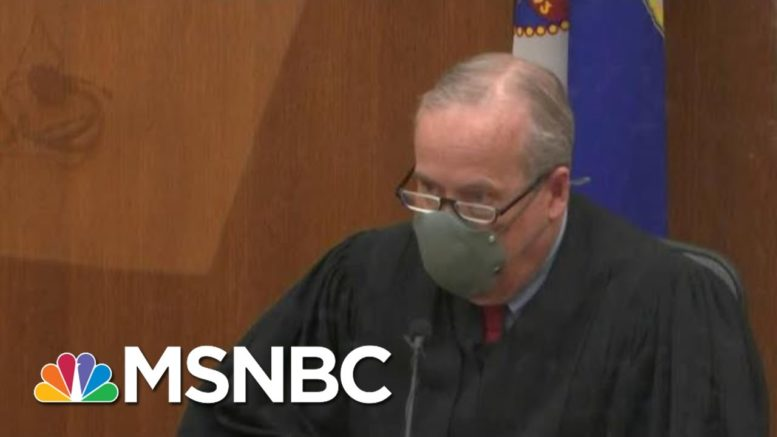 Judge Rules Derek Chauvin Trial Will Not Be Delayed Or Moved | Hallie Jackson | MSNBC 1