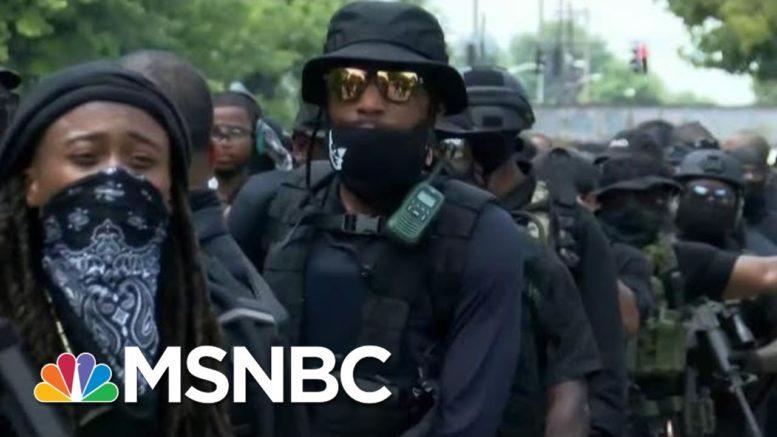 Inside An All-Black Militia Group   Morning Joe   MSNBC 1