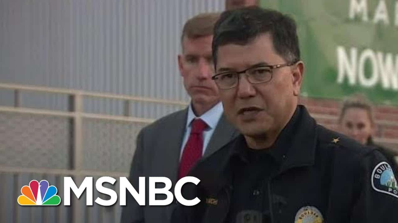 Boulder Police Confirm Multiple Fatalities, Person Of Interest In Custody   All In   MSNBC 1