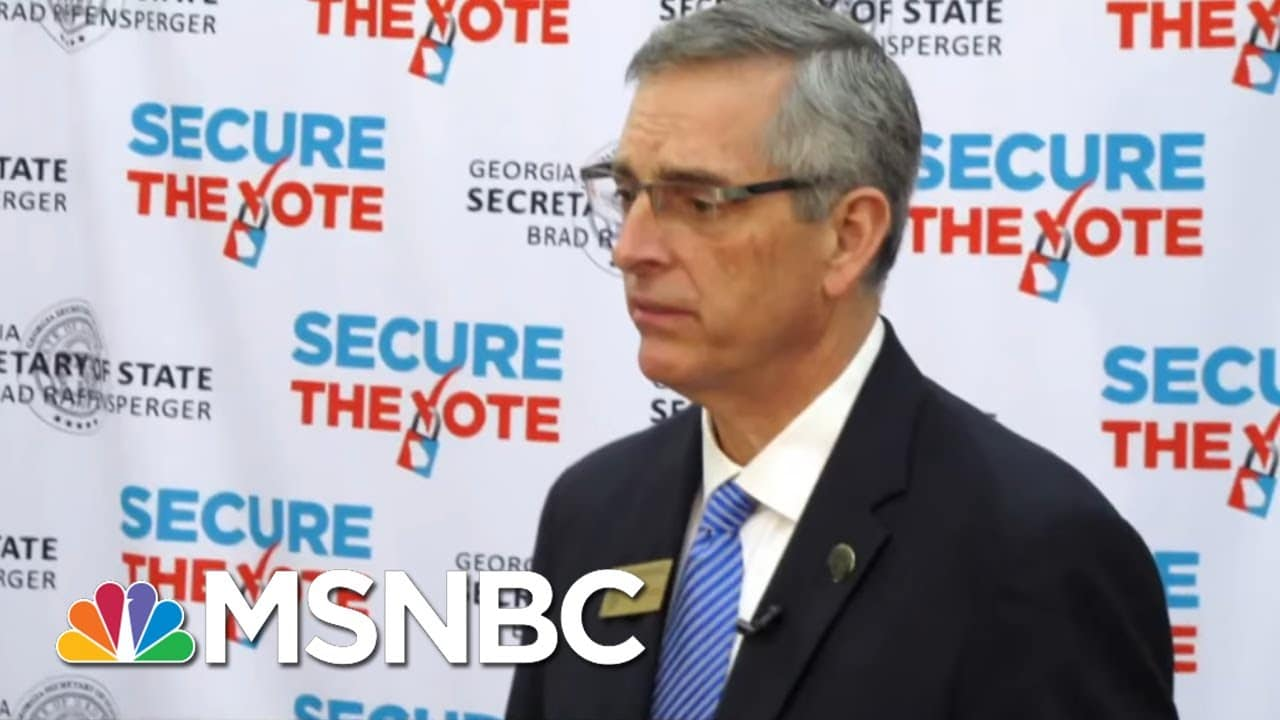 Trump Backs Opponent Of Georgia Election Official Who Wouldn't 'Find The Votes' | All In | MSNBC 5