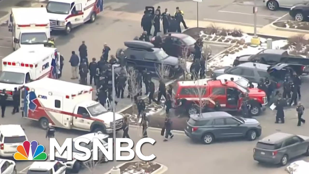 Witness Describes Early Moments Of Shooting At Boulder, Colorado Supermarket   Rachel Maddow   MSNBC 1
