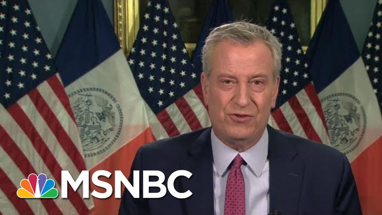 De Blasio: Demand In NYC For Vaccinations Is There | Morning Joe | MSNBC 1