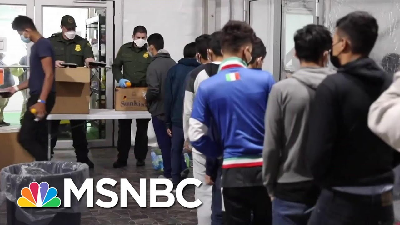 CBP Releases Video From Inside Texas Migrant Facility   Stephanie Ruhle   MSNBC 1