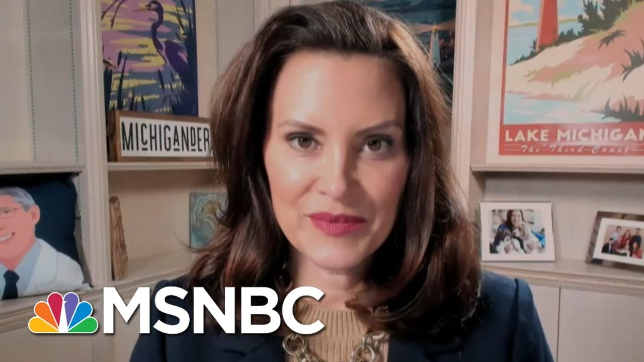 Gov. Whitmer Talks Infrastructure, Guns, And Rising Covid Numbers In Her State   Katy Tur   MSNBC 1