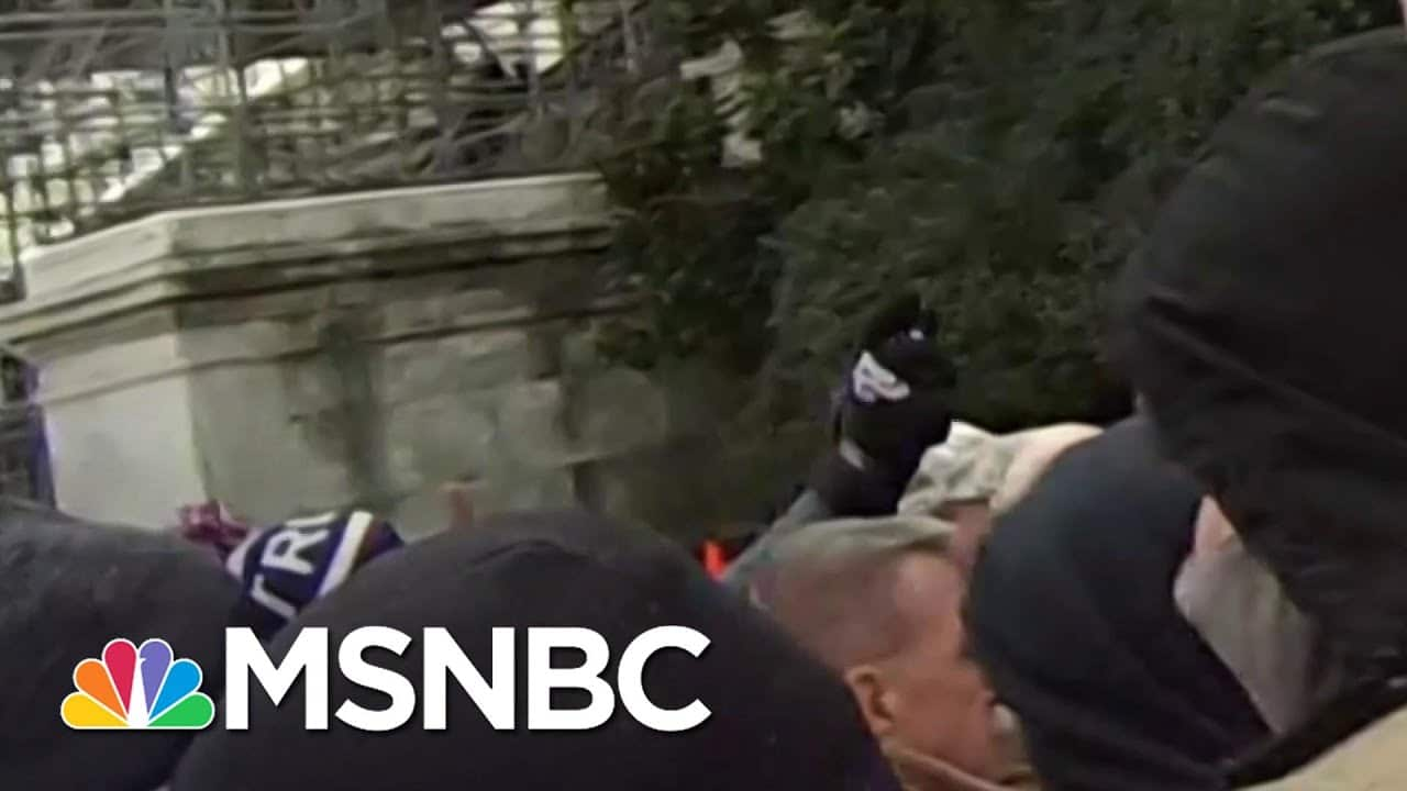 New York Times Video Shows Officer Sicknick Attacked In Capitol Riots | Katy Tur | MSNBC 7