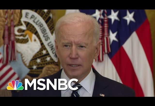 Biden Doubles Goal, Plans To Distribute 200 Million Vaccine Doses By 100th Day In Office | MSNBC 1