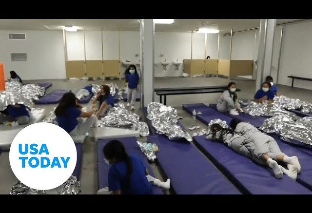 Video shows conditions of border facilities | USA TODAY 1