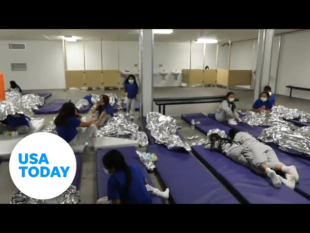 Video shows conditions of border facilities   USA TODAY 1