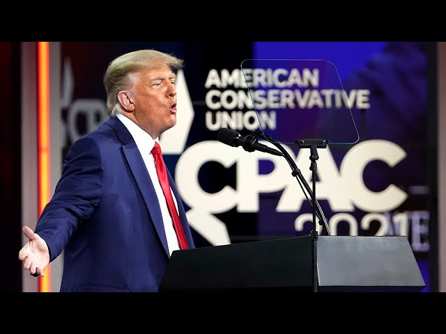 Trump hints at 2024 presidential run in first appearance 1