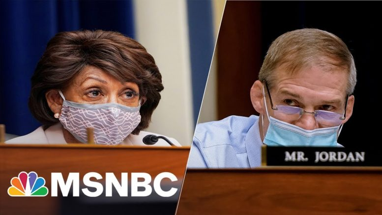 Maxine Waters Says She Told Jim Jordan to 'Shut Your Mouth' for 'Bullying' Dr. Fauci | MSNBC 1