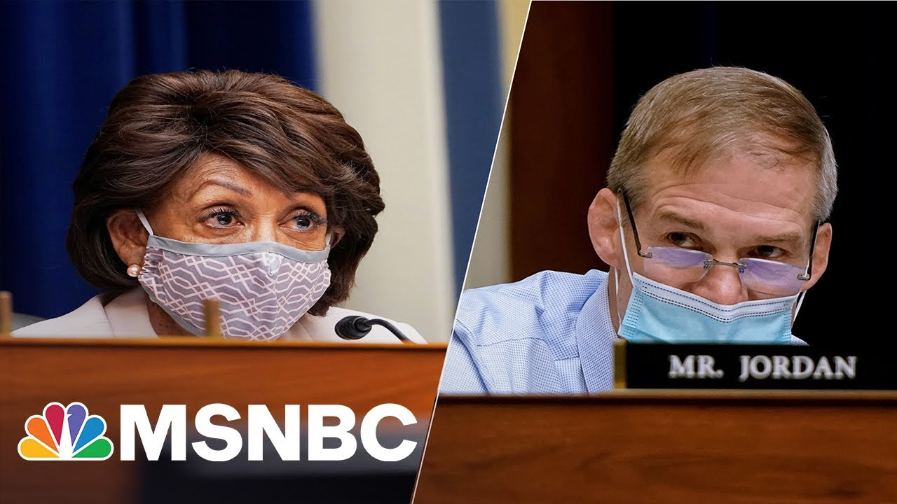 Maxine Waters Says She Told Jim Jordan to 'Shut Your Mouth' for 'Bullying' Dr. Fauci | MSNBC 4