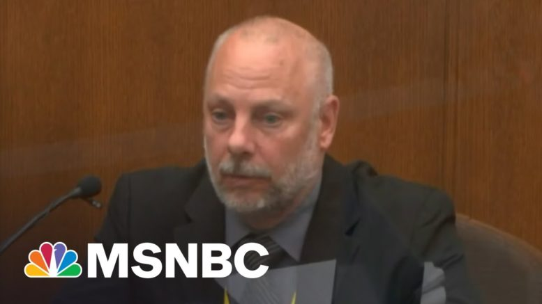 Chauvin's Former Supervisor Testified To When Restraint Should End | Morning Joe | MSNBC 1