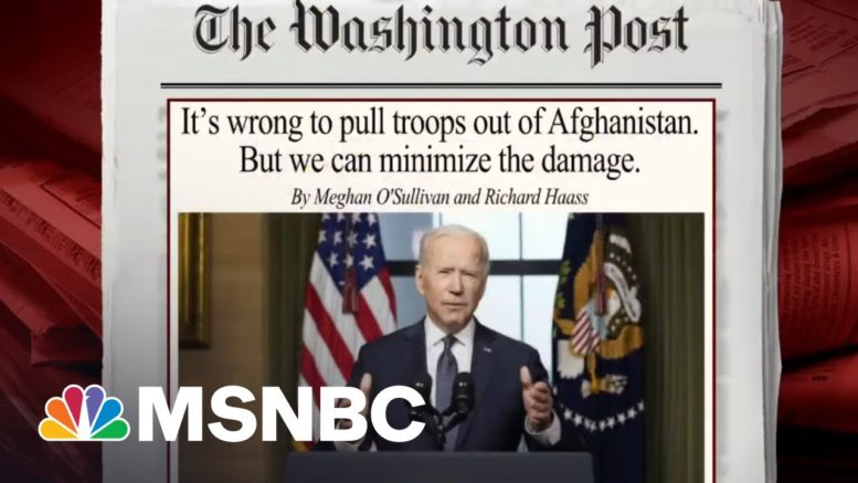 What Biden's Troop Decision Could Mean For Afghanistan | Morning Joe | MSNBC 1