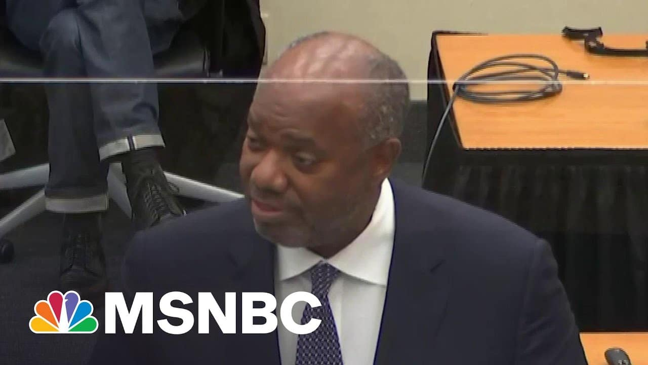 Prosecution: George Floyd Is Dead Because 'Chauvin's Heart Is Too Small'   Deadline   MSNBC 5