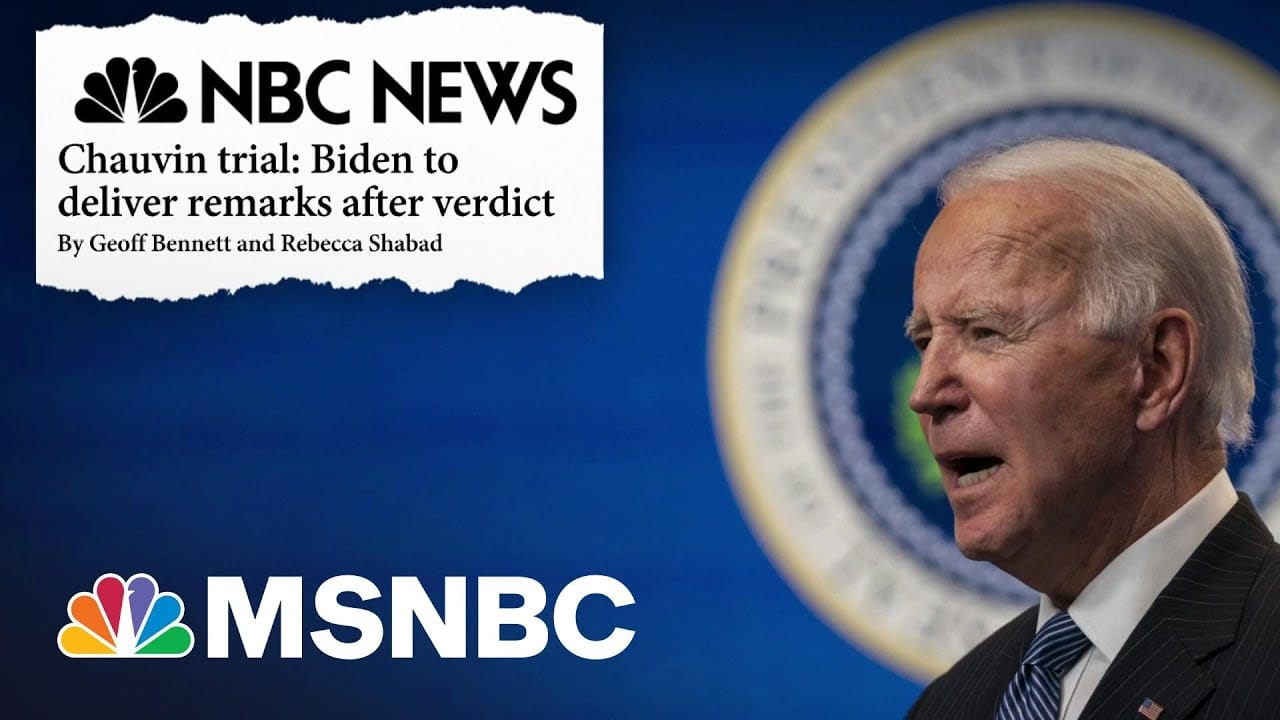 Biden To Deliver Remarks After Verdict In Chauvin Trial   The ReidOut   MSNBC 2