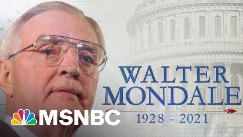 Remembering Vice President Walter Mondale | MTP Daily | MSNBC 1