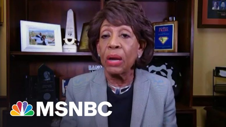 Rep. Maxine Waters On GOP Censure Vote: Republicans Love To Use Me As A Target | The ReidOut | MSNBC 1