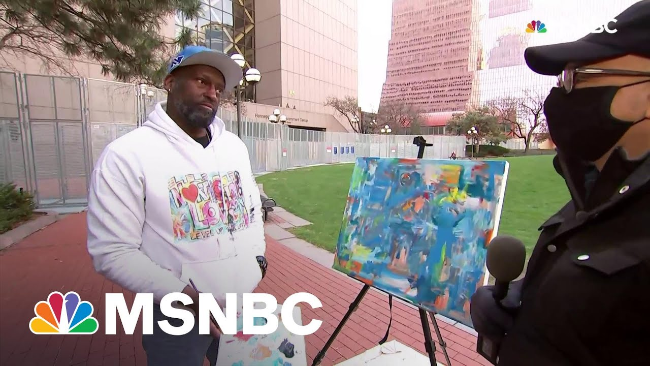 'Walking On Air': Artist Reacts To Chauvin Verdict Outside Minn. Courthouse | All In | MSNBC 3