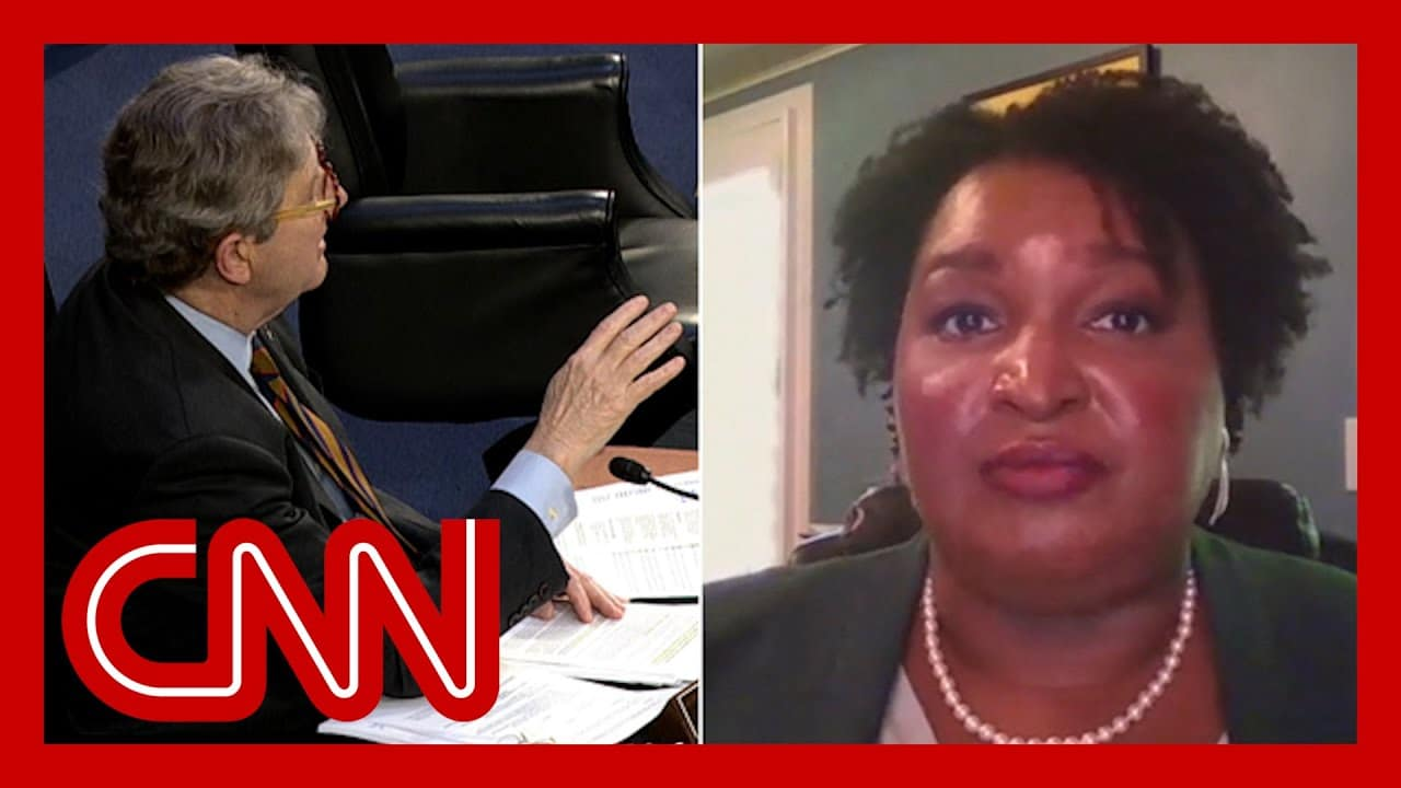 Stacey Abrams fires back at GOP senator about voting rights 1