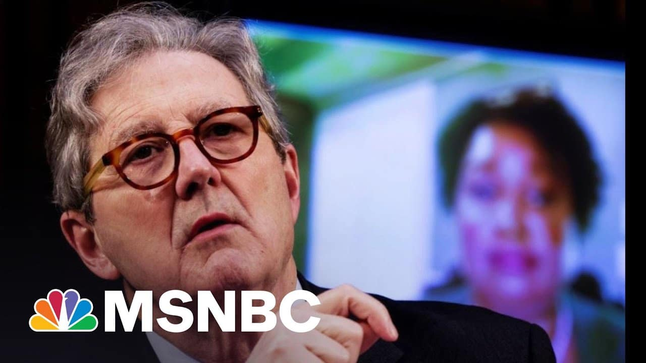 Sen. John Kennedy Tries (And Fails) To Stump Stacey Abrams | The 11th Hour | MSNBC 9