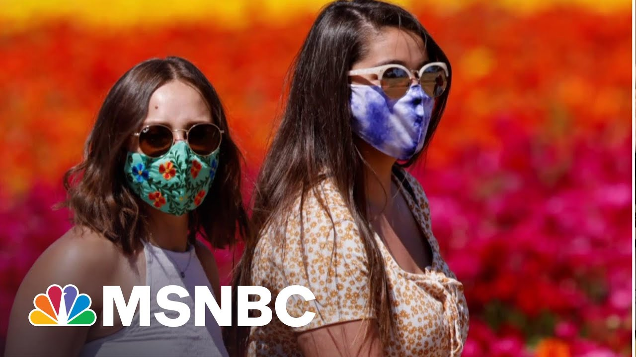 Debate Grows Over Wearing Masks Outdoors | Andrea Mitchell | MSNBC 3