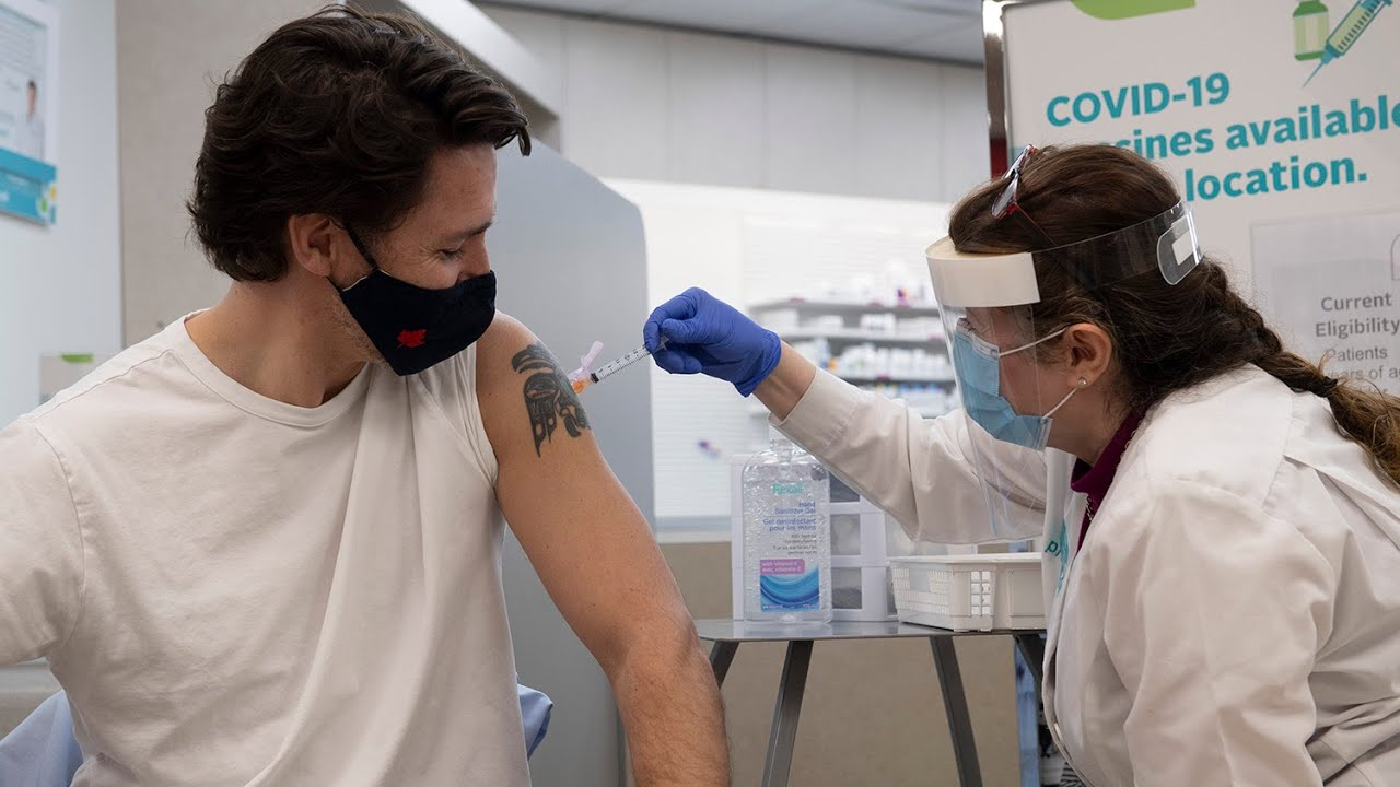 PM Justin Trudeau receives the AstraZeneca vaccine 1