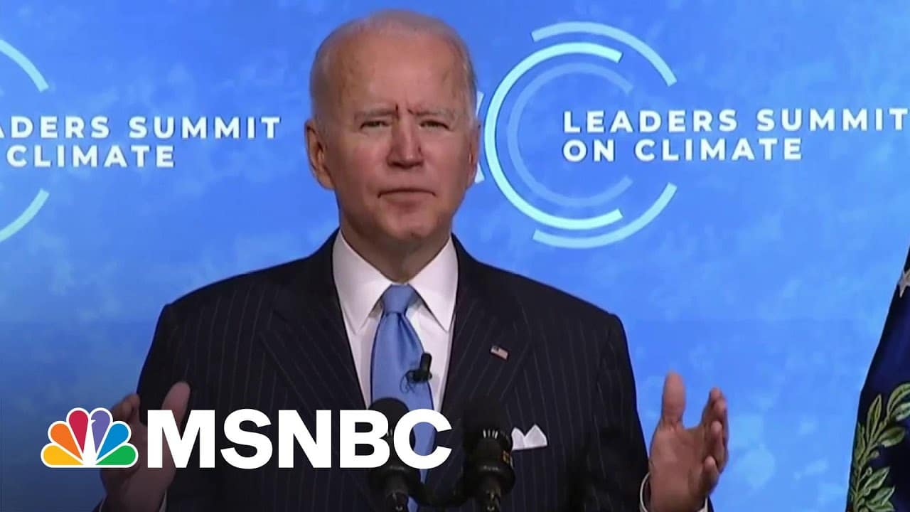 Biden Calls For 'Investing In Innovation' To Work Toward 'A Clean Energy Future'   MSNBC 1