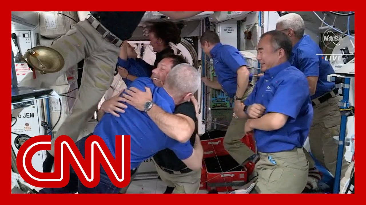 Astronauts welcome new crew aboard the ISS 1