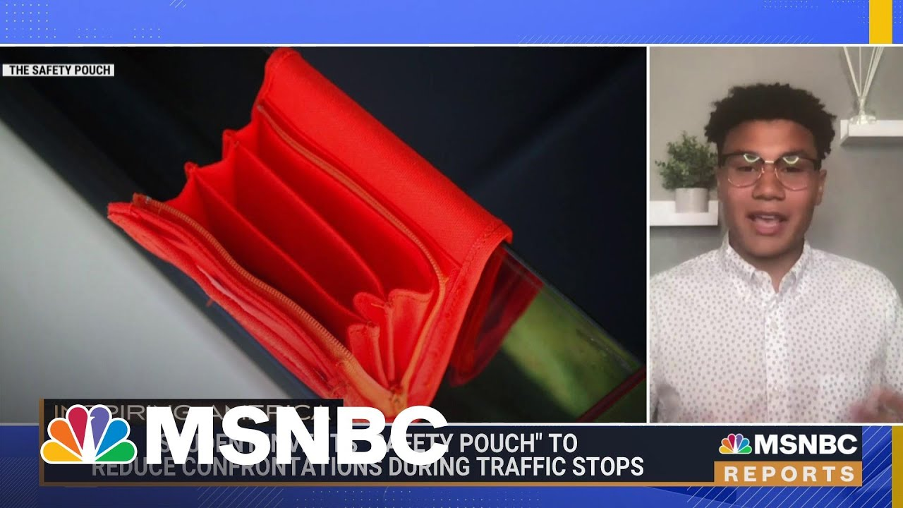 College Student Invents Safety Pouch To Help Reduce Confrontations During Traffic Stops   MSNBC 1