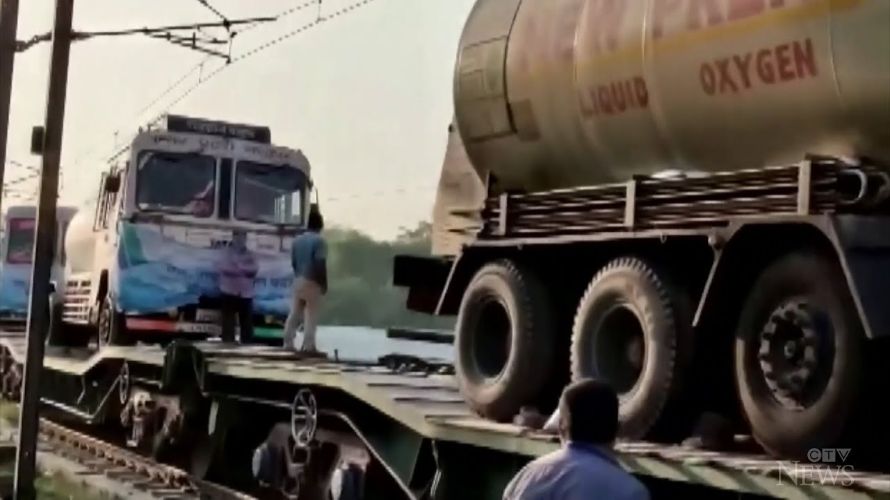 Transporting much-needed oxygen in India 1