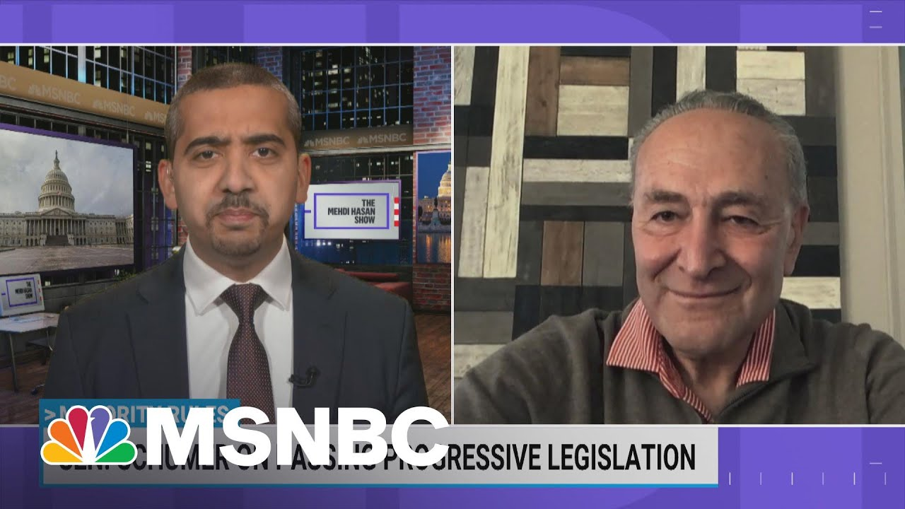 Sen. Schumer On Passing President Biden's Agenda With 50-50 Senate   Mehdi Hasan   MSNBC 1
