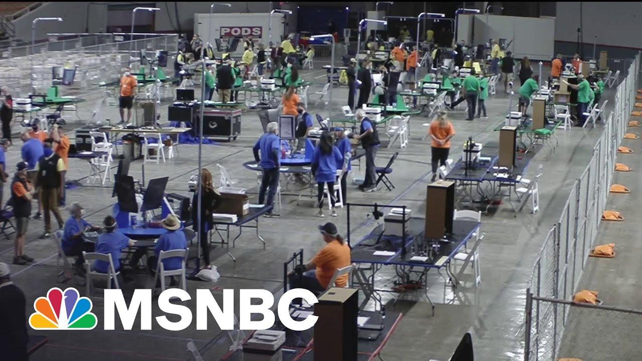 Arizona Republicans Recounting Presidential Election Votes In Maricopa County   MSNBC 1