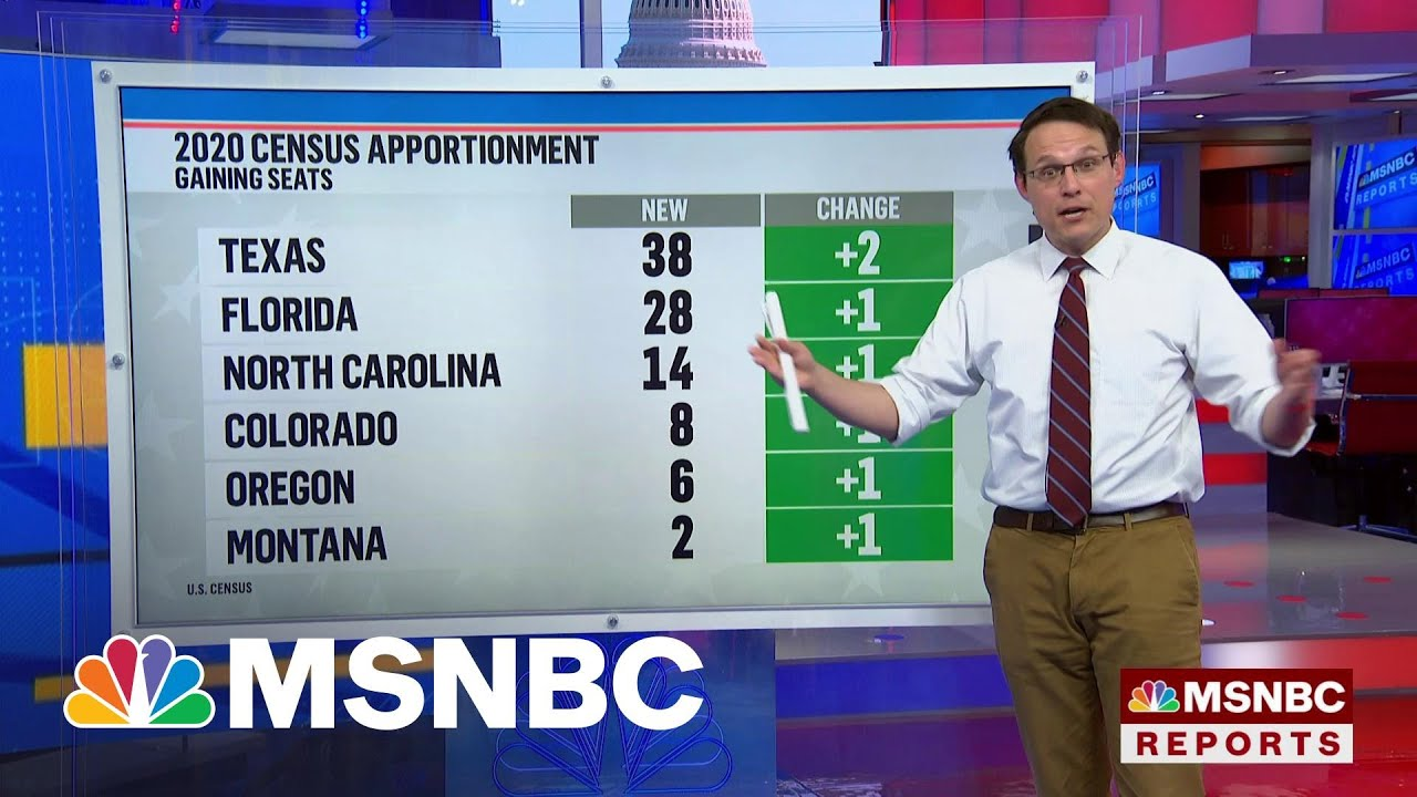 Which States Lost Or Gained Seats In The House From The 2020 Census Results? | MSNBC 1