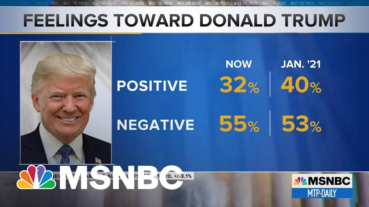 NBC News Poll: Trump's Favorability Wanes After Almost 100 Days Out Of Office | MTP Daily | MSNBC 1