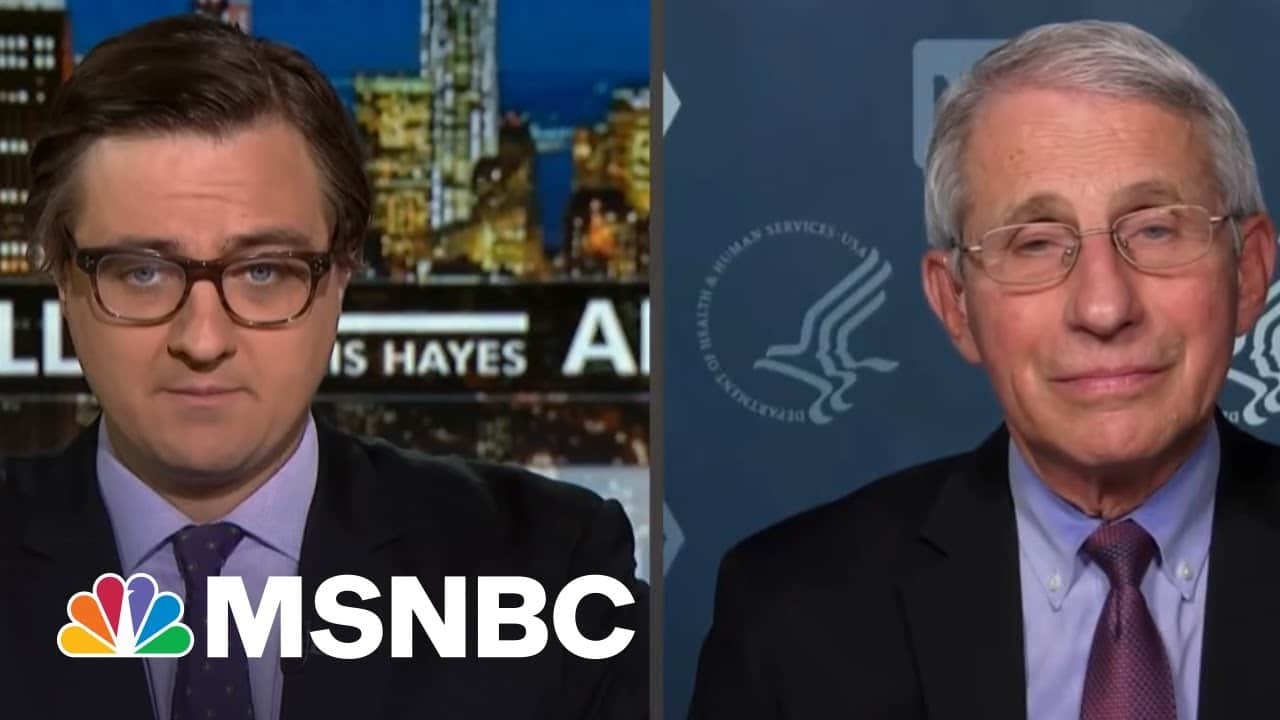 Dr. Fauci Promises To 'Destroy' Chris Hayes In One-On-One Basketball | All In | MSNBC 2