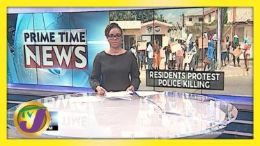 Residents Protest Police Killing in Red Hills Kingston, Jamaica | TVJ News - April 23 2021 6